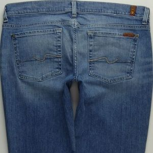 7 For All Mankind Crop Straight Leg Jeans 32 A251J